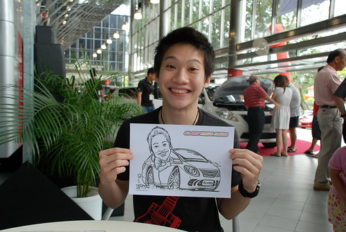 Caricature live sketching for Tan Chong Nissan Almera Soft Launch - Day 2 - 13