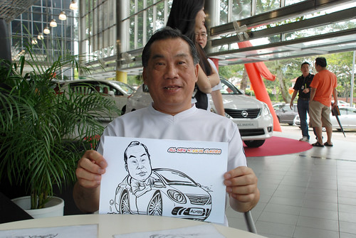 Caricature live sketching for Tan Chong Nissan Almera Soft Launch - Day 2 - 20