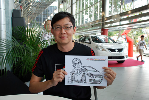 Caricature live sketching for Tan Chong Nissan Almera Soft Launch - Day 2 - 31