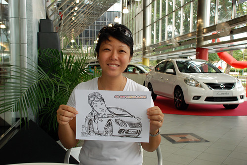 Caricature live sketching for Tan Chong Nissan Almera Soft Launch - Day 2 - 37