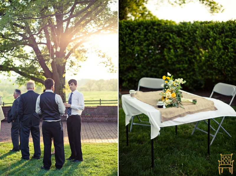 gray and yellow outdoor vintage wedding_072