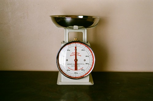 kitchen scales.