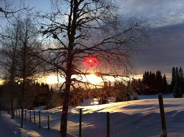 Vakkert vintervær