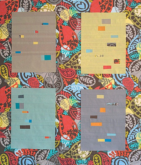 Bits and Pieces Quilt - testing print sashing