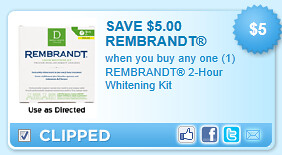 Rembrandt 2-hour Whitening Kit Coupon