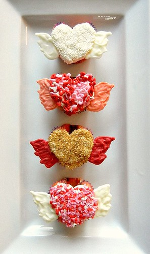 flying valentines day cupcakes