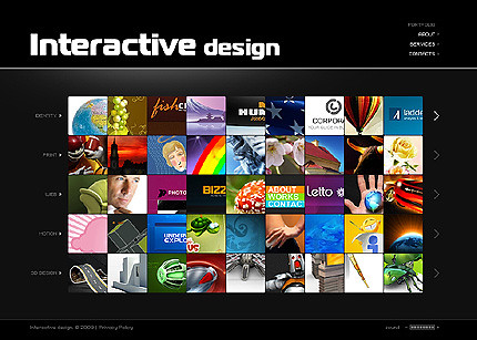 Flash site 24869 Interactive design
