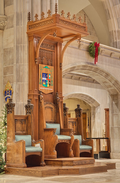 Saint Peter Cathedral, in Belleville, Illinois, USA - Episcopal throne
