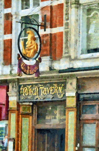 The Punch Tavern, 99 Fleet Street, London