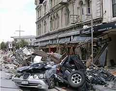 在地震中受損的紐西蘭基督城。(慕尼黑再保公司提供)
