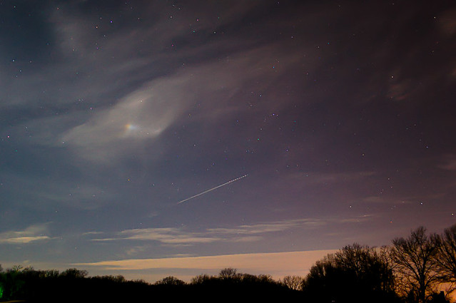Night Sky at Broemmelsiek Park, in Saint Charles County, Missouri, USA,