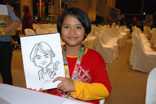 caricature live sketching for kidsREAD Volunteer Appreciation Day 2011 - 20