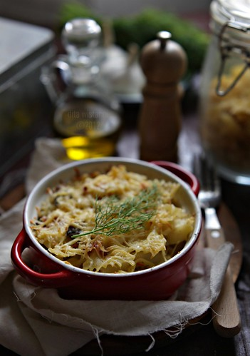 baked farfalle wth cheese