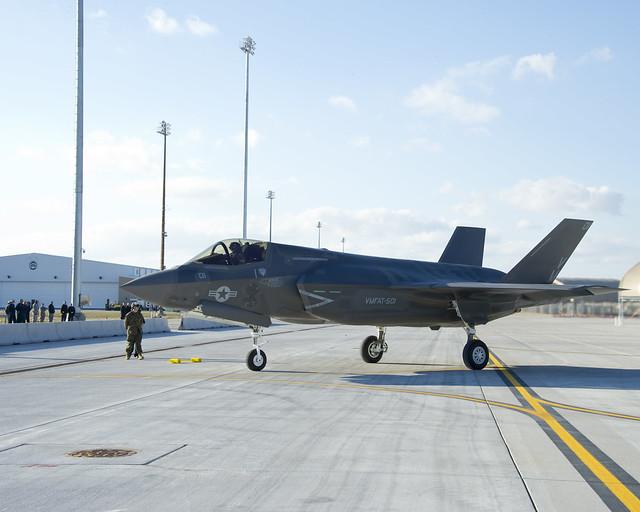 BF-6 после посадки на авибазе Эглин.