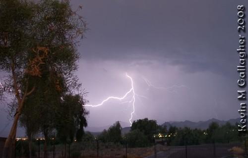 landscape scenery lightning storn