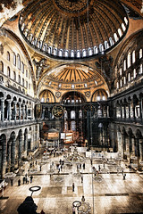 [Free Images] Architecture, Institution, Museum, Churchs / Catedrals, Hagia Sophia, World Heritage, Landscape - Turkey, Indoor Space ID:201201191000