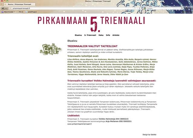 Salotto: Pirkanmaan triennaali -sivusto