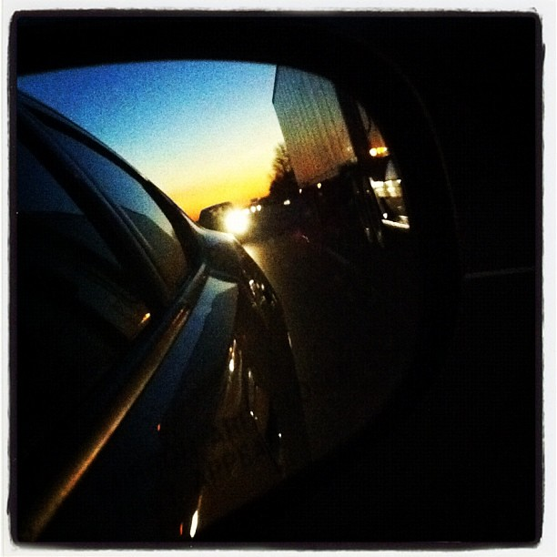 Sunset in the rear view! #sunset