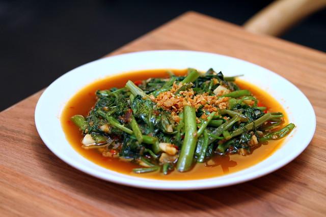 Absolute Thai: Stir Fried Kang Kong with Shrimp Paste