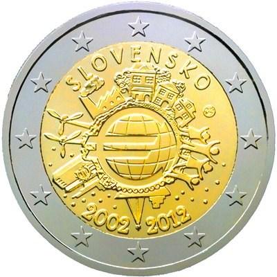 2 Euro Slovensko 2012, 10. výročie zavedenia Eura