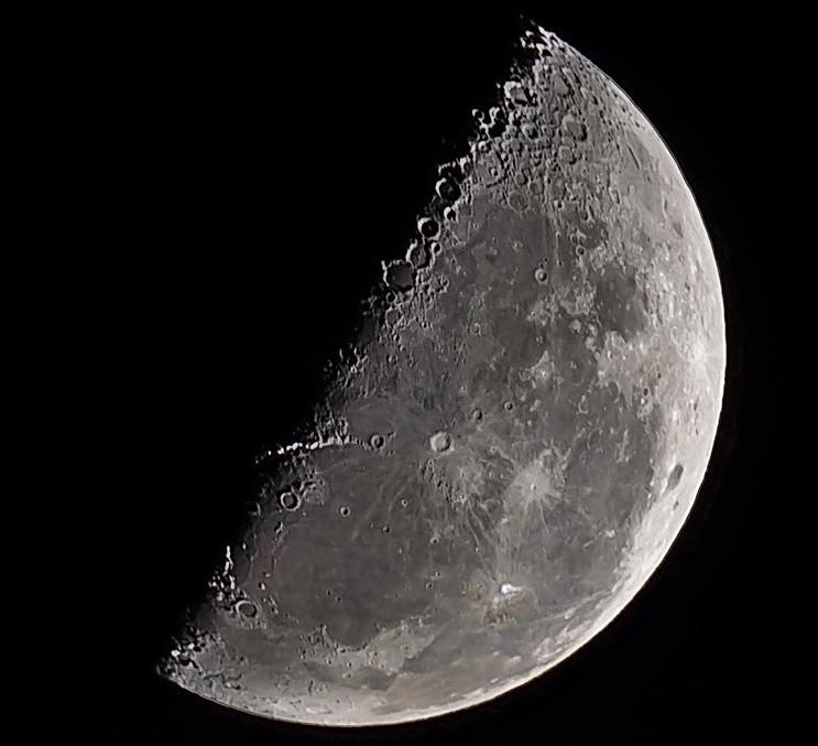 Luna en cuarto menguante. - Científica - Comunidad Nikonistas