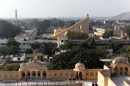 View of Jantar Mantar from Palace of the Winds