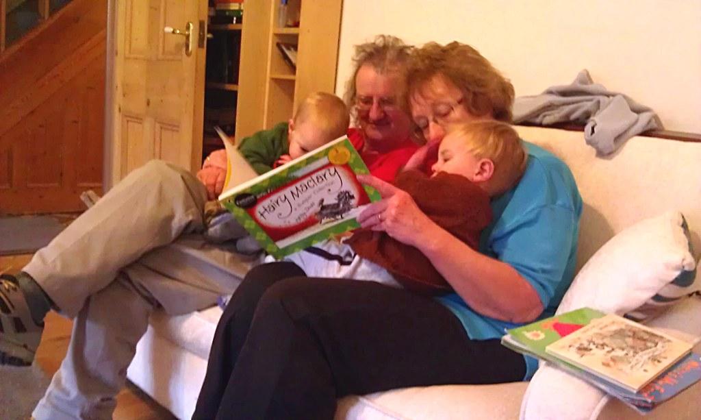 Russell, Grandpa, Grandma, Adam, Hairy Maclary