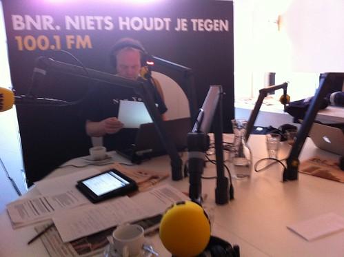 On air at BNR Nieuwsradio