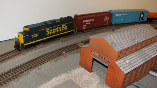 Eddie K's Athearn H.O Scale  Santa Fe freight train replicating the late 1960's and early 1970's era. by Eddie from Chicago