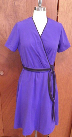 Front of purple knit dress