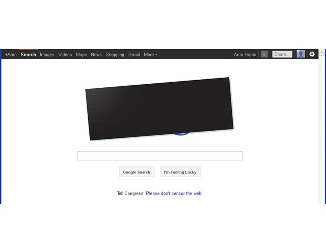 Google Protest of SOPA