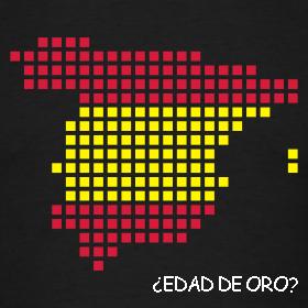 Mapa de España pixelado