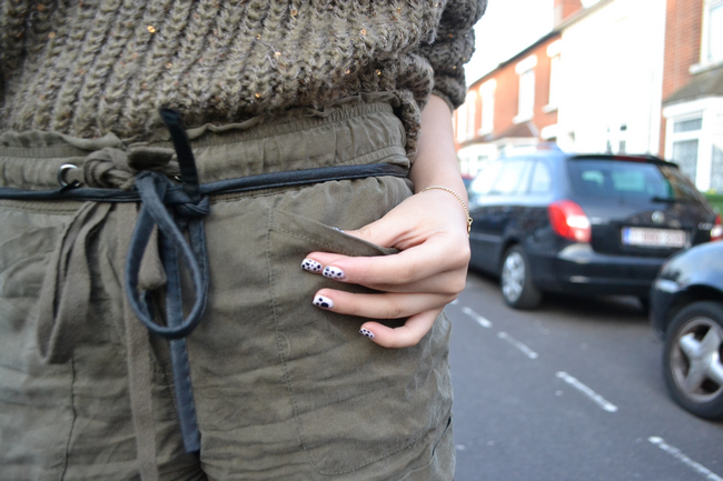 daisybutter - UK Style Blog: olive green knit and shorts