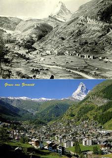 Zermatt 1900 and 2005