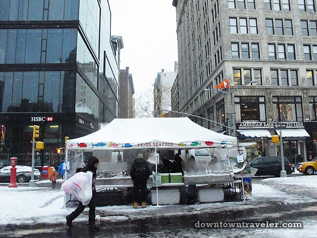 NYC Snowstorm January 2012 Union Square Greenmarket 6