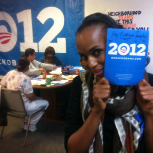 Actress Kerry Washington in Miami with OFA-Florida Volunteers