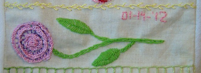 Buttonhole and Fly Stitch