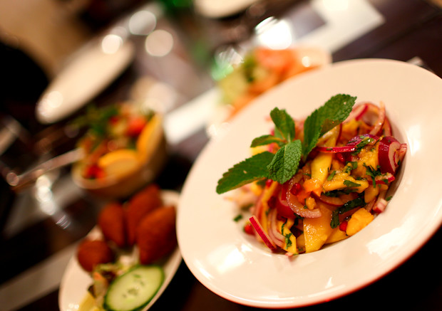Mango Salad at Mamounia Lounge in Knightsbridge