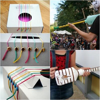 Instrumentos de cuerda reciclados