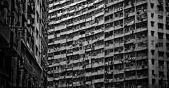 [フリー画像素材] 建築物・町並み, ビルディング, 家屋・住宅, モノクロ, 風景 - 中華人民共和国, 中華人民共和国 - 香港 ID:201201280000