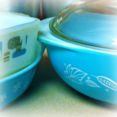 Aqua Pyrex and Blue Heaven Thrifting Karma
