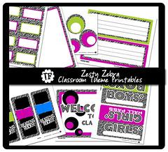 Zesty Zebra Classroom Theme