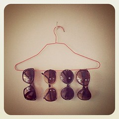 Another great use of hangers. Now I can just pick one and go!