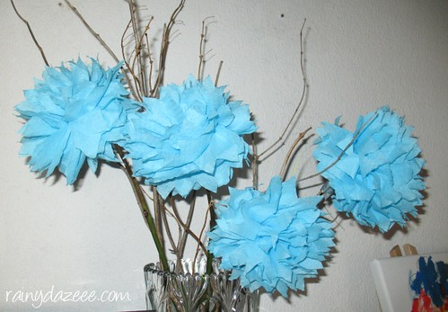 mini flower pompoms