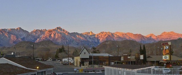 Mount Whitney from the Dow Villa in Lone Pine