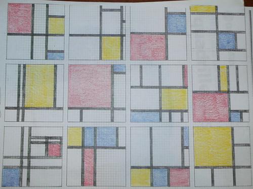 Mondrian sketches
