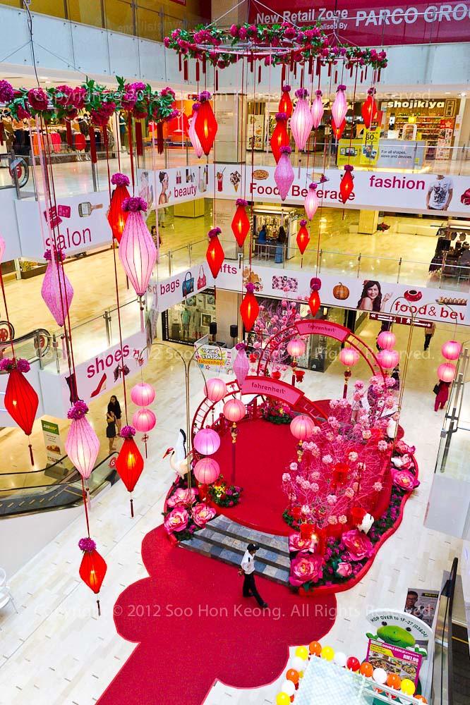 CNY decoration @ Fahrenheit 88, KL, Malaysia