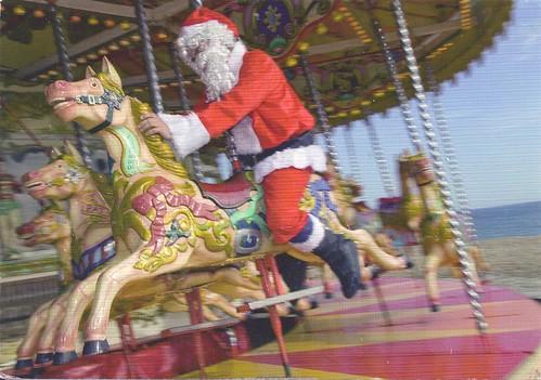 Santa on Carousel