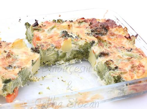 peynir soslu fırında sebze (2)