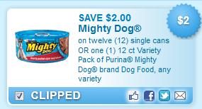 Purina Mighty Dog Brand Dog Coupon